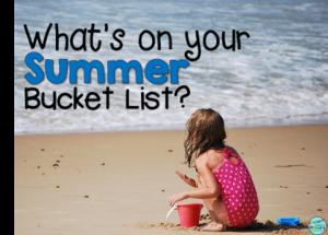 summer bucket list graphic